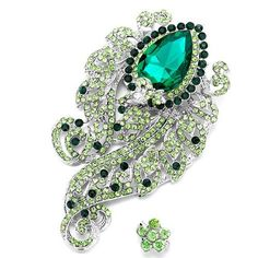 Pugster Romantic Classic May Birthstone Green Crystal Flower Set Brooches And Pins Christmas Gifts Pugster, http://www.amazon.com/dp/B009L0VXMY/ref=cm_sw_r_pi_dp_ikAQqb1RB7GNJ