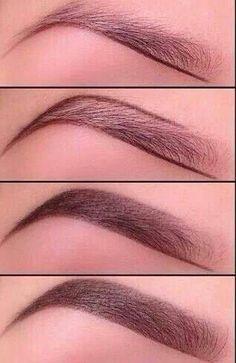 Shaping eyebrows