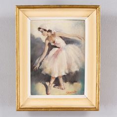 Cesar Vilot Painting of a Ballerina ref. Z79 | French antiques | Négrel Antiques