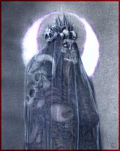 "(working title ""Mater Necrosi/Mother of Necrosis"") Macabre Art, Gothic Art, Dark Fashion, Horror Art, Skull Art, Occult, Dark Art, Witchcraft, Painting & Drawing"