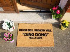 Doorbell Broken funny doormat  60x40cm  Novelty  Gift