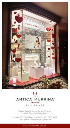 Celebrating LOVE Month  http://www.anticamurrina.com.ph/ STORE LOCATION:  Makati Avenue, Corner Arnaiz Avenue, Makati City 1228, Philippines   Monday – Saturday | 11:00 am – 8:00 pm  T +63(0)2 811 6888 Local 3499 T +63(0)2 810 0105 T +63(0)2 893 1529 F +63(0)2 8572043   E: contact@anticamurrina.com.ph