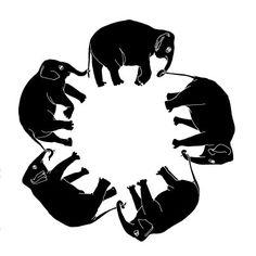 It's Always Winter In Space: Elephant Tattoo