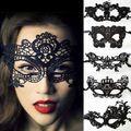 Halloween Sexy Elegant Gezicht Oogmasker Bal Carnaval Fancy Party Zwarte Venetiaanse Kostuums Carnaval Masker Voor Mardi