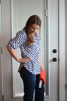 Stitch Fix Review April 2015 Blue white Top http://fantabulosity.com