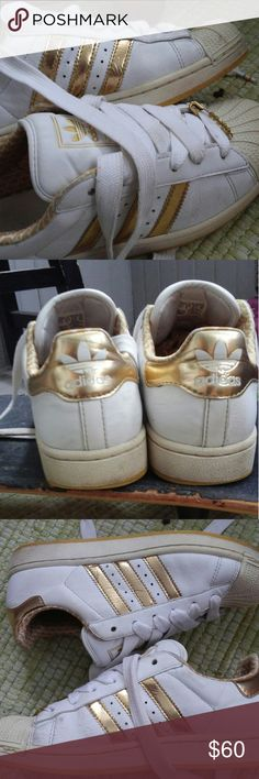 788b54cc983 Limited edition metallic gold superstar  amp fat laces Purchased in 2009  This style is called