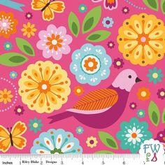 Summer Song 2 - Pink Main Print Riley Blake