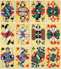 Einar Nerman's 'Patience Playing Cards' (1924), produced by Granbergs Aktiebolag, Stockholm