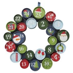 Threshold� Red and Green Advent Wreath