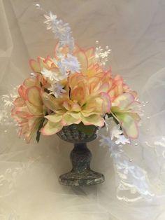 ELIXITA Centerpiece Wedding Decoration Gift Flowers Silk arrangement Dahlias #ELIXITA