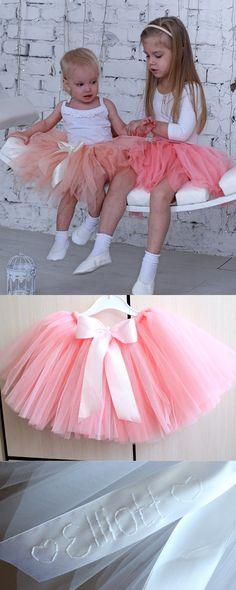 Girls Tulle Skirt, Pink Tutu Skirt, Tulle Skirts, Dress Skirt, How To Make Tutu, Real Princess, Skirts For Kids, Princess Dresses, Tutus For Girls