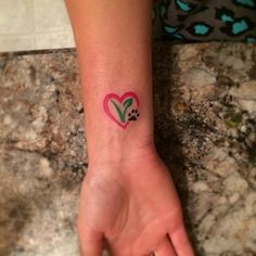 A more colorful way to do a heart design. | 17 Tasteful Tattoos For Vegans