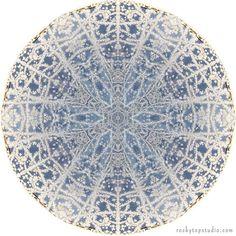 Mandala Art, Abstract Nature Print, Geometric Art Print, Peaceful Round Art, Fine Art Print in Icy Blue Mandala Art, Abstract Nature, Abstract Art, Art Nature, Wall Art Prints, Fine Art Prints, Nature Prints, Geometric Art, Fractal Art
