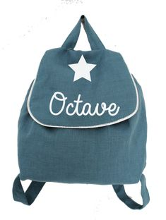 sac-a-dos-enfant-lin-bleu-canard-prenom-personnalise Baby Girl Fashion, Fashion Backpack, Backpacks, Girl Style, Images, Sewing, Google, Collection, Personalized Backpack
