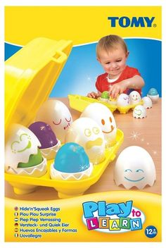 Your little ones will have their imaginations ignited with this play and learn hide and squeak eggs from Tomy. With stimulating colours and squeak sound effects, those little ones will love this. Activity Toys, Activities, Easter Toys, Play To Learn, Rubber Duck, Baby Toys, Little Ones, Gifts For Kids, Tomy
