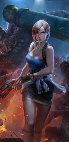 Get some Resident evil 3 remake Character Jill valentine wallpapers HD images art Screenshots Costume Battlesuit Hair and Haircut to use as iPhone android wallpaper pics Fantasy Female Warrior, Warrior Girl, Fantasy Girl, Female Art, Valentine Resident Evil, Resident Evil Girl, Resident Evil 3 Remake, Anime Girl Hot, Anime Art Girl