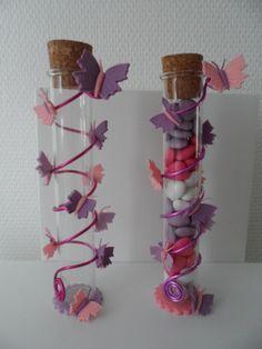 tube à dragées : Thème Papillon : Autres bébé par la-porcelaine-de-sandrine