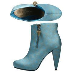 9/11/11 sky-rocketed blue booties by christian siriano. it is so fierce! ;)