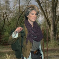 "Carol Peletier Walking Dead Cosplay Costume by Kathy Kay Dee  - ""The Grove"" traveling to Terminus Season 4 Episode 14 https://www.facebook.com/KayDeeCollectionCostumes"