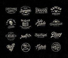 Fantastic collection of logos by @septadomes - #typegang - free fonts at typegang.com