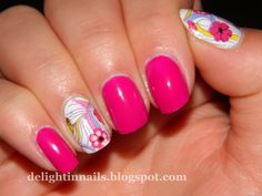 Delight in Nails: KKcenterHK Water Decals Review & Sinful Colors Dream On
