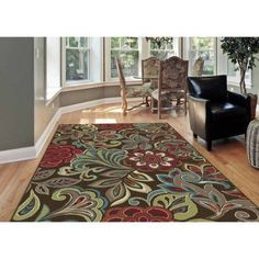 Bliss Rugs Didi Transitional Area Rug, Brown