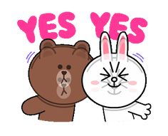 LINE Official Stickers - Brown & Cony Heart Melting Romance Example with GIF Animation Love Cartoon Couple, Cute Love Cartoons, Cute Love Pictures, Cute Love Gif, Chibi Cat, Cute Chibi, Cute Wallpaper Backgrounds, Cute Wallpapers, Cony Brown