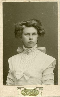 CDV Portrait of a young woman - Sweden - c.1910 | Flickr - Photo Sharing!
