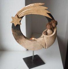 hand made pottery nativity abstract Slab Pottery, Ceramic Pottery, Pottery Art, Ceramic Art, Christmas Clay, Christmas Nativity Scene, Christmas Ornaments, Pottery Sculpture, Sculpture Clay