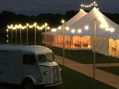Festoon Lighting - Wedding Lighting - Wedding Inspo - Festival Wedding
