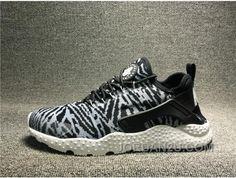 20bdfd67688fe Nike Air Huarache Men And Women Ultra Kjcrd Zebra-stripe Black White  818061-001 BE865