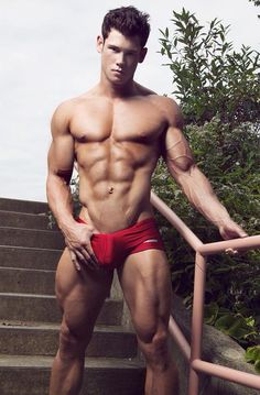 Beautiful Men and Their Muscles: Photo Brian Lewis, Hot Hunks, Muscular Men, Attractive Men, Good Looking Men, Male Beauty, Male Body, Slip, Hot Boys