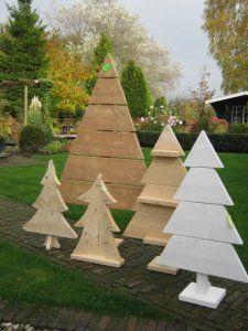 Mooie kerstbomen van hout