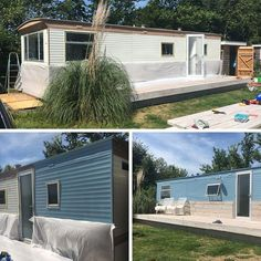 Painting our static caravan #remodelingamanufacturedhome