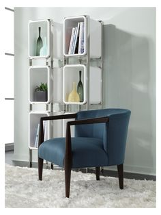 Fleming Chair From Mitchell Gold +Bob Williams For The Living Room. Covered  In A
