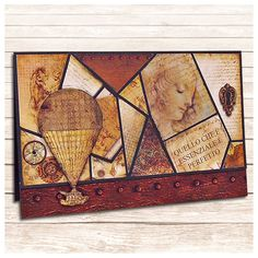 An amazing cards inspired at Leonardo Da Vinci realized with the Codex-Leonardo Scrapbooking Creative Pad by Ciao Bella Paper featuring Sabina Galfré. Scrapbook Cards, Scrapbooking, Leonardo Collection, Rice Paper, Vintage World Maps, Mixed Media, Inspired, Amazing, Creative