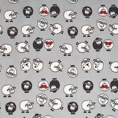 Susi-Baumwollsweat (Öko-Tex) von Aktivstoffe #Nähen #DIY #Stoffe #Aktivstoffe #Schafe #Dessins #Kinderstoffe