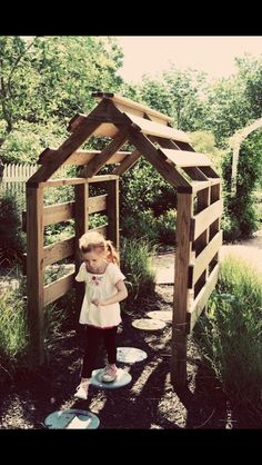 pallet playhouse tiny recycled diy shack fort side of house with clematis or c., a pallet playhouse tiny recycled diy shack fort side of house with clematis or c., a pallet playhouse tiny recycled diy shack fort side of house with clematis or c. Outdoor Play Spaces, Outdoor Fun, Outdoor Ideas, Pallet Ideas For Outside, Pallet Garden Ideas Diy, Garden Ideas Using Pallets, Natural Play Spaces, Garden Diy On A Budget, Outdoor Lighting