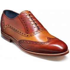 These Oxford front lace-up shoes feature traditional punched detailing throughout, delightful leather two tone combinations. These shoes are for the more discerning of gentlemen, whether they are to be worn for the office or with jeans. They will certainly make a statement.   http://www.marshallshoes.co.uk/mens-c1/barker-mens-grant-rosewood-cedar-brogue-lace-shoe-p2009