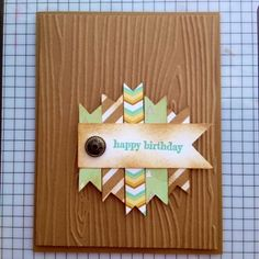 Masculine Birthday Card version 2.0 | Midnight Crafting Stampin Up Wood Grain TIEF and Lullaby DSP, Baked Brown Sugar base and sponging men boys guy card idea