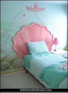 Decorating theme bedrooms - Maries Manor: underwater bedroom ideas - under the sea theme bedrooms - mermaid theme bedrooms - sea life bedrooms - Little mermaid princess Ariel