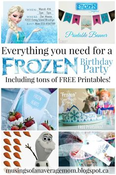 Musings of an Average Mom: Free Frozen Party Printables The Ultimate Pinterest Party, Week 58