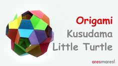 """Origami Kusudama Little Turtle (intermediate - modular) """"Give me a place to stand, a lever long enough and a fulcrum. and I can move the Earth"""" Archimedes Origami Folding, Origami Art, Paper Folding, Origami Geometric Shapes, Paper Art, Paper Crafts, Origami Tutorial, Kirigami, Turtle"""
