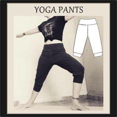 Yoga Pants Outfit, Yoga Shorts, Gym Clothes Women, Diy Clothes, Yoga Pants Pattern, Yoga For Flexibility, Yoga Wear, Sewing Patterns, Clothing Patterns