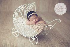 Carrinho de ferro Baby para sessão newborn