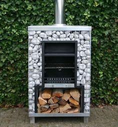 stone gabion barbeque