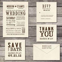 Custom Wedding Stamp  Wedding Invitation Stamp  by modernartstamps, $145.00