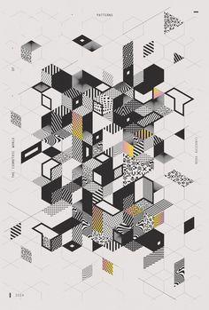 I S O M E T R I C W O R L D O F P A T T E R N S 40x60 cm by Nora Kaszanyi