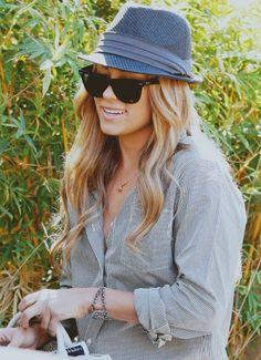 Lauren Conrad  Hat  Shirt  Sunglasses  Style  Beauty Lauren Conrad Style 5113fc3882ac