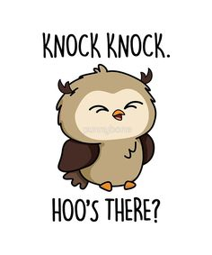 'Hoo's There Animal Halloween Pun' Sticker by punnybone Funny Food Puns, Cute Jokes, Punny Puns, Funny Doodles, Cute Doodles, Halloween Puns, Art Puns, Animal Puns, Cute Illustration